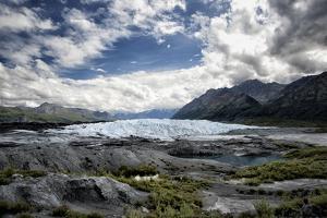 Matanuska Glacier Terminus, Mountains and Expansive Sky by Sheila Haddad