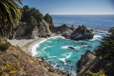 Maya Falls and Ocean, Julia Pfeiffer Burns SP, Big Sur, California by Sheila Haddad