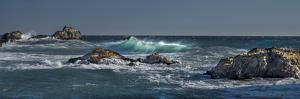 Pfeiffer Beach, Big Sur, California, Crashing Waves in Panorama by Sheila Haddad