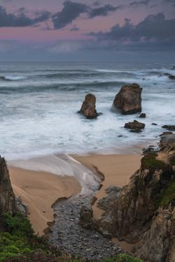 Rolling waves of the Pacific Ocean onto Garrapata Beach in Big Sur, California by Sheila Haddad