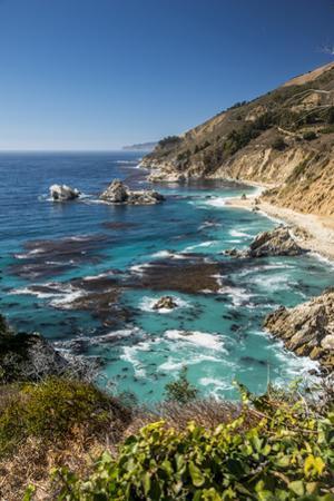 Vertical Big Sur Coastline California by Sheila Haddad