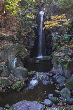 Waterfall in the gardens of the Narita Temple by Sheila Haddad