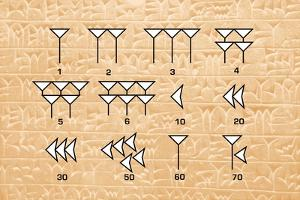 Babylonian Cuneiform Numerals by Sheila Terry