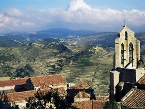 Basilica Santa Maria from the Castle, Morella, Valencia Region, Spain by Sheila Terry