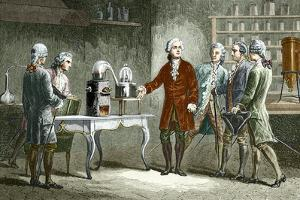 Lavoisier's Experiment on Air, 1776 by Sheila Terry