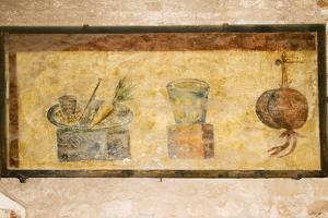 Roman Fresco, Ostia Antica by Sheila Terry