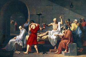 The Death of Socrates, 1787 Artwork by Sheila Terry