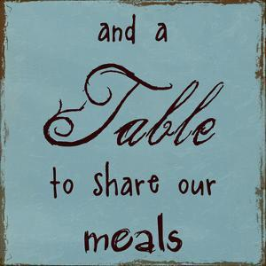 A Table To Share Our Meals by Sheldon Lewis