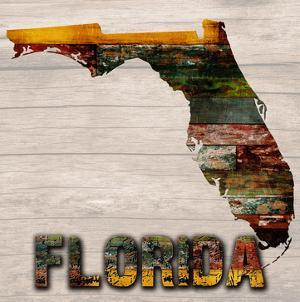 Florida Wooden Map by Sheldon Lewis