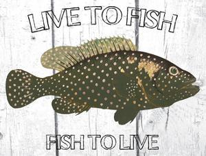 Live To Fish by Sheldon Lewis