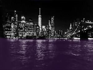 New York City Purple Rain by Sheldon Lewis