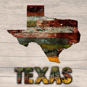 Texas Wooden Map by Sheldon Lewis