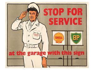 Shell Stop for Service