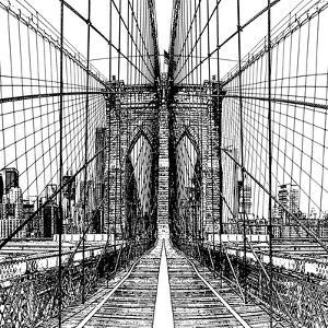 Brooklyn Bridge Sketch by Shelley Lake