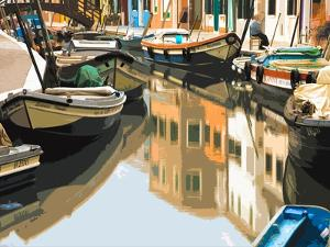 Burano Boats by Shelley Lake