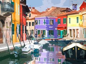Burano Village by Shelley Lake