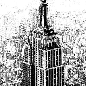 Empire State Sketch by Shelley Lake