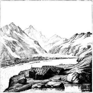 Shelter Built by the Glaciologist Louis Agassiz, Aar Glacier, Switzerland, 1842