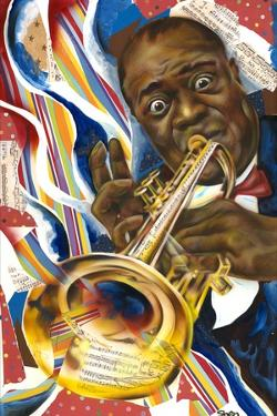 Louis Armstrong: Collage by Shen