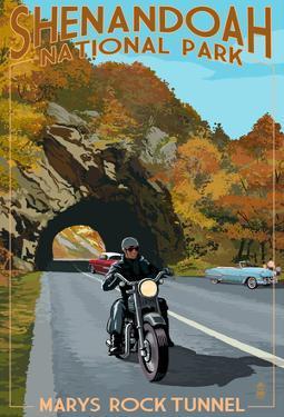 Shenandoah National Park, Virginia - Marys Rock Tunnel Motorcycle