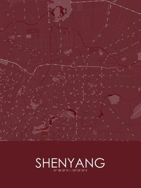 Shenyang, China Red Map