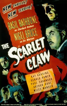 Sherlock Holmes and the Scarlet Claw, Basil Rathbone, Nigel Bruce, 1944