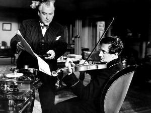 Sherlock Holmes and the Voice of Terror, from Left, Nigel Bruce, Basil Rathbone, 1942