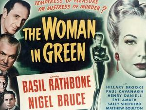 """Sherlock Holmes And the Woman In Green, 1945, """"The Woman In Green"""" Directed by Roy William Neill"""