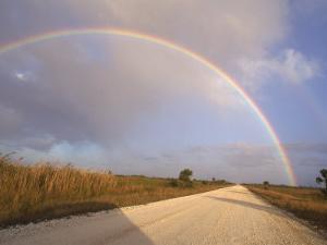 Rainbow Across a Blue Sky, Everglades, Florida by Sherwood Hoffman