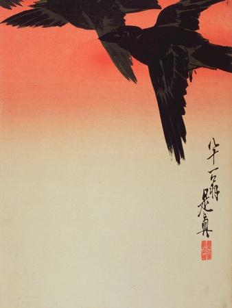 Crows in Flight at Sunrise, 1888