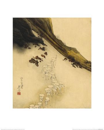 Pilgrims on the Slopes of Mount Fuji