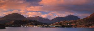 Shieldaig Village and Loch Torridor Mts Highlands Scotland