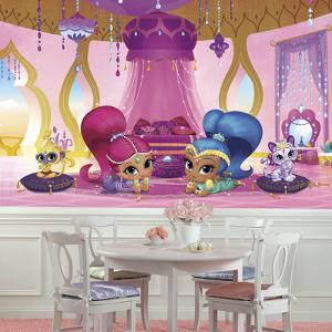 Shimmer and Shine Genie Palace XL Chair Rail Prepasted Mural