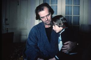 Shining by Stanley Kubrik with Jack Nicholson and Danny Llyod, 1980 (d'apres StephenKing) (photo)