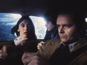 Shining by Stanley Kubrik with Shelley Duvall, Danny Llyod and Jack Nicholson, 1980 (d' apres Steph