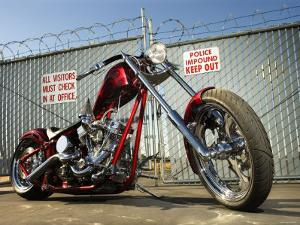 Shiny New Custom Motorcycles in Impound