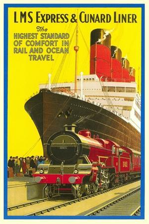 Ship and Rail Travel Poster