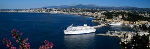 Ship at a Harbor, Nice, Alpes-Maritimes, Provence-Alpes-Cote D'Azur, France
