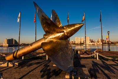 SHIP PROPELLER BATTLESHIP NEW JERSEY MUSEUM WATERFRONT CAMDEN NEW JERSEY USA