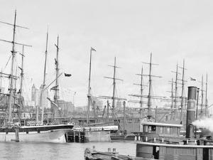 Shipping at East River Docks, New York