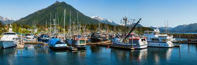 Ships and boats at marina, Sitka, Southeast Alaska, Alaska, USA