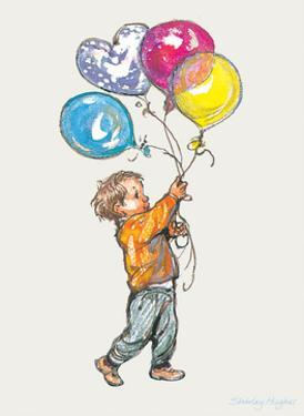 Balloons - Alfie Illustrated Print by Shirley Hughes