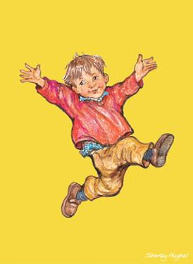 Jump - Alfie Illustrated Print by Shirley Hughes