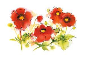 Flores Rojas VI by Shirley Novak