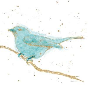 Gilded Bird I Teal by Shirley Novak