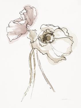 Three Somniferums Poppies Neutral II by Shirley Novak