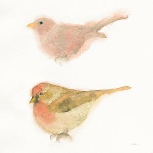 Watercolor Birds II Sq by Shirley Novak