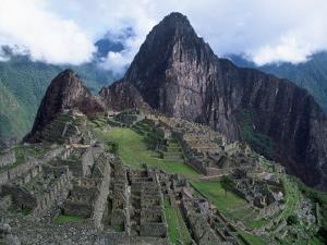 View of Incan Ruins, Machu Picchu, Peru by Shirley Vanderbilt