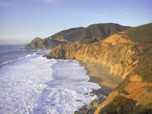 Seascape with Cliffs, San Mateo County, CA by Shmuel Thaler