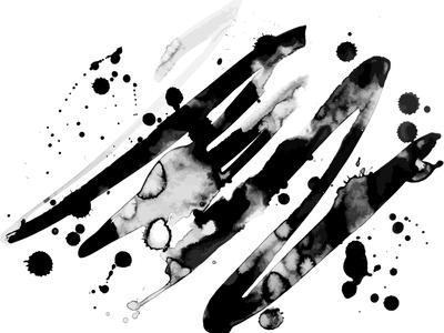 Abstract Ink Grunge Texture Vector on White Background